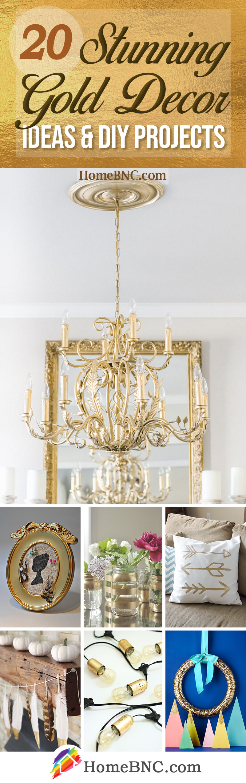 Best DIY Gold Projects and Home Decor Ideas